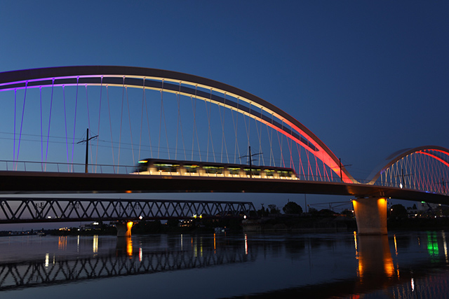 Les ponts André Bord et Béatus Rhénanus