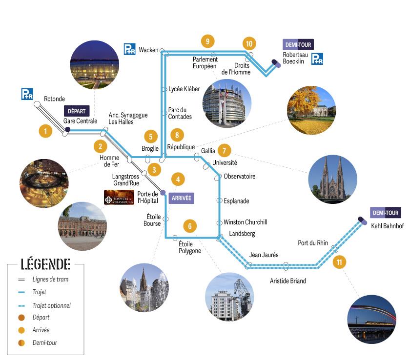 Tram découverte : Formule Combiné Départ Gare Centrale
