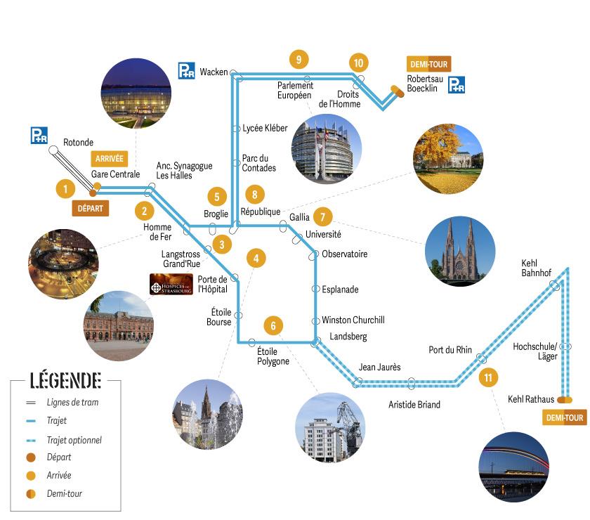 Tram découverte : Formule Classique Départ Gare Centrale