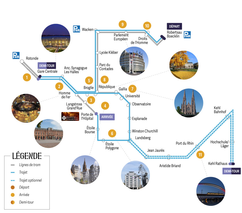 Tram découverte : Formule Combiné Départ Gare Wacken